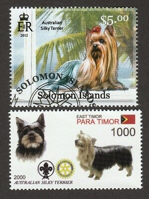 SILKY TERRIER ** Int'l Dog Stamp Collection ** Great Gift Idea*
