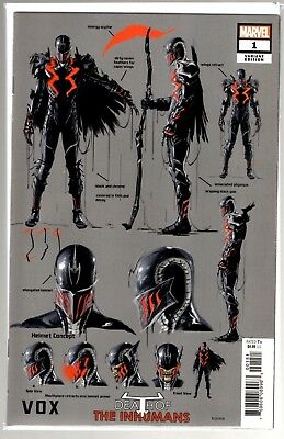 Marvel Comics DEATH OF THE INHUMANS #1 1:10 DESIGN VARIANT FIRST VOX