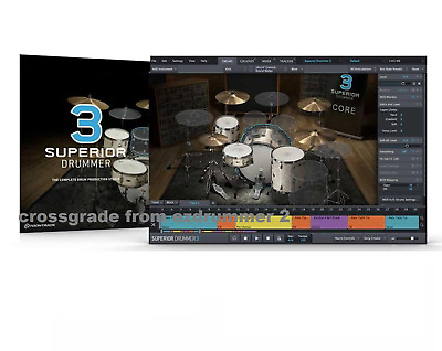 Toontrack  Superior Drummer 3.0 Crossgrade Software From Ezdrummer 2 License