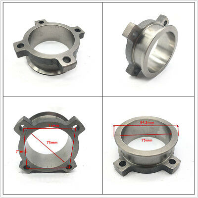 For T3 T4 3'' 4 Bolt to 3'' V Band Turbo Exhaust Flange Stainless Steel Adapter