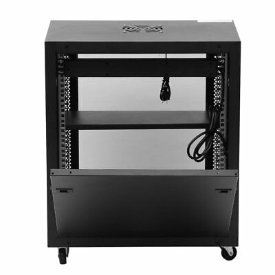 Network Data Wall Mount Server Cabinet Rack Lock with Cooling Fan RR