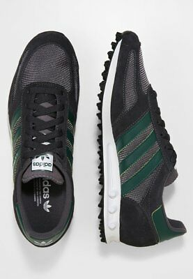 Adidas Originals LA Mens Trainer Shoe Sneaker Sport Run Football Black Green 8e83a1465f6