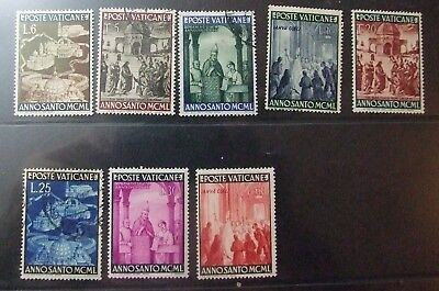 Vatican City, 1949, THE HOLY YEAR, Set of 8, MNH