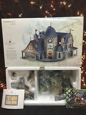 New Department 56 Seasons Bay First Edition Bay Street Shops Set Of 2 #53301