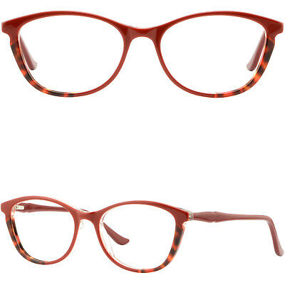 75cce62b6d7 Light Oval Womens Acetate Frames Plastic Prescription Glasses Red Spring  Hinges