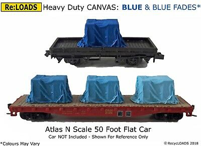 DARK BLUE /'CANVAS/' Tarped Covered Sheeted Road /& Railway Load /& Fades HO // OO