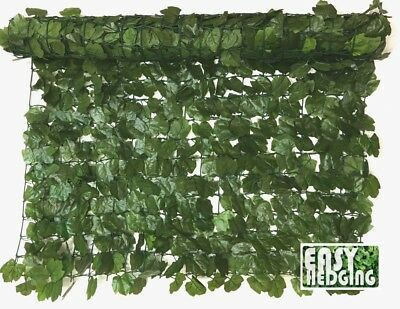 Artificial Ivy Leaf Hedge Roll Privacy Screening Garden Wall Fence Panel 3m x 1m