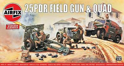 Airfix Vintage Classic 1/76 25pdr Field Gun and Quad Tractor # A01305V