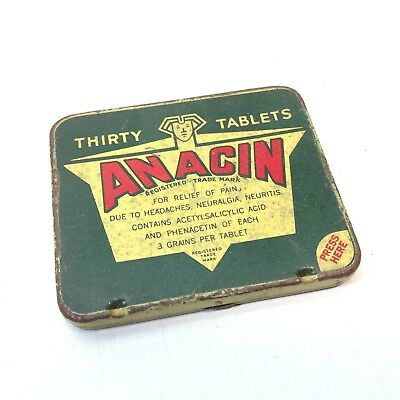 Vintage ANACIN Tablets Tin Medical