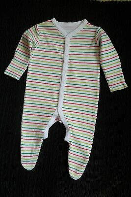 Baby clothes BOY GIRL 3-6m white, red, greens stripes NUTMEG babygrow SEE SHOP!