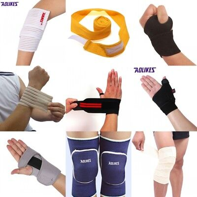 Compression Elbow Wrist Knee Support Brace Guard Arthritis Pain Sports Running
