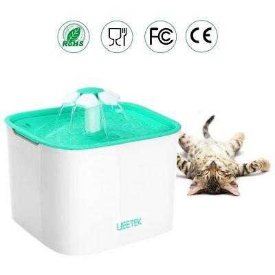 UEETEK Fontaine à Fleur pour Chat Automatic Electric Pet Water Fountain Drinking