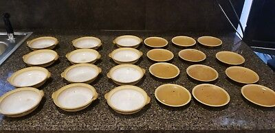"""24 Oriental Ceramic Stoneware Small Bowls or Dip Dishes 4"""" and 4.5"""""""