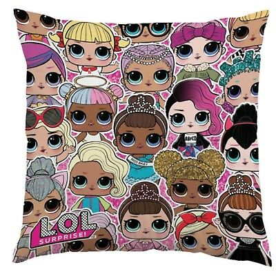 LOL Surprise Childrens Reversible Plush Cushion Pillow