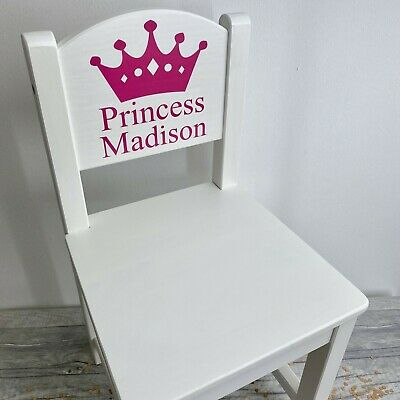 PERSONALISED Wooden Toddler baby Chairs GIRL BOY Princess birthday Gift Present