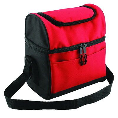 KC Caps® Deluxe Insulated Lunch Cooler Bag Compartment Zipper Adjustable