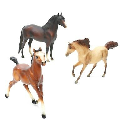 Vintage Lot of 3 Breyer Molding Co Horses Pony Mixed Figure Collection Made USA
