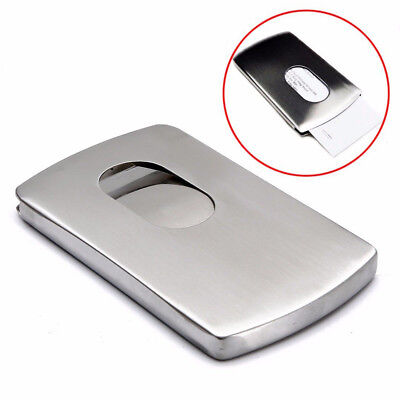 Wallet Business Stainless Steel Box Name Credit ID Card Holder Pocket Case Hot