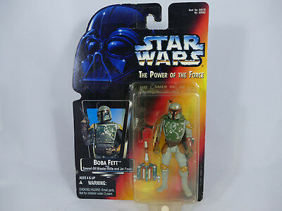 Rc1 Star Wars Potf2 Boba Fett Red Card Foreign Stickers Moc