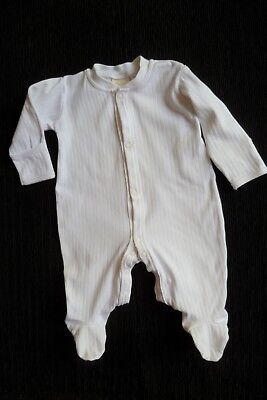 Baby clothes BOY GIRL 3-6m Morris Mouse white ribbed  babygrow cotton SEE SHOP!