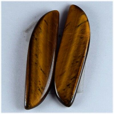 10.9 Ct NATURAL MULTI FIRE TIGER EYE  MARQUISE MATCHED PAIR FOR EARRING CABOCHON