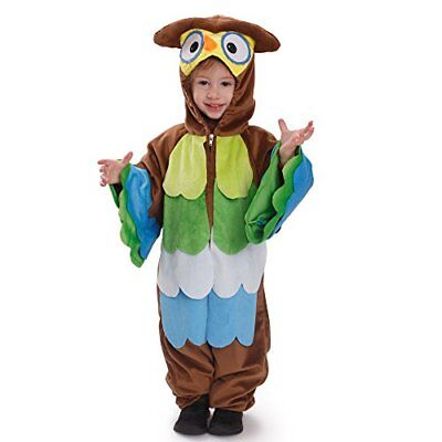 Multicolore Età 4-6 Dress Up America bambini s Hoo Hoo Owl Pretend Gioca a (trc)