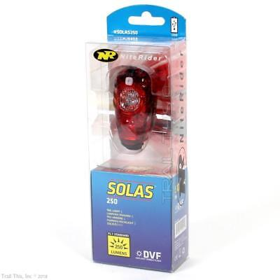 NiteRider Solas 250 Lumens LED Bike Tail Light USB Rechargeable Daylight Visible
