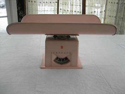 Vintage Pink DETECTO Baby Infant Weigh Scale - All Metal - 0 To 25 Pounds