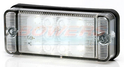 Was W84D 12V 24V Rectangular Compact Led Reverse Lamp Light Trailer Caravan