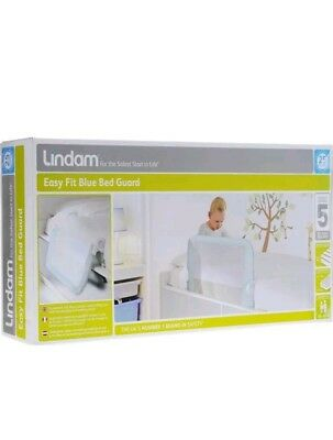 Lindam Easy Fit Bed Guard Blue Safe & Secure Your Baby Brand New BNIB Free Post