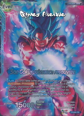 Dragon Ball Super Card Game ! Son Goku, Puissance Recouvrée P-044 PR VF/FOIL