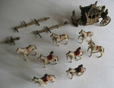 Crescent Diecast Queen Elizabeth's Horse Driven Coronation Coach Parts or Repair