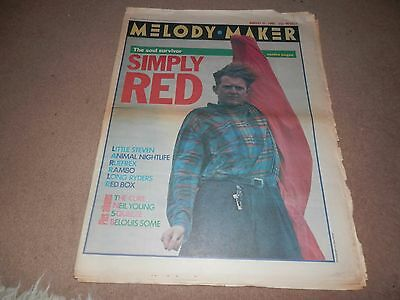 Melody Maker Aug 31 1985 Simply Red Long Ryders Neil Young Red Box Rambo
