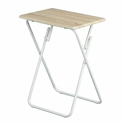 Aingoo TV Snack Table Pliante Table de Jardin Table de Pique-Nique (Bois)