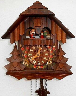 Vintage Black Forest Cuckoo Clock with Regula & Cuendet Swiss Musical Movement