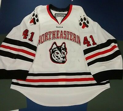 sale retailer eba79 c1c58 GAME WORN NORTHEASTERN huskies goalie jersey