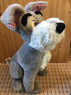 Vintage Official Disney World Lady And The Tramp TRAMP plush Soft Toy Retro