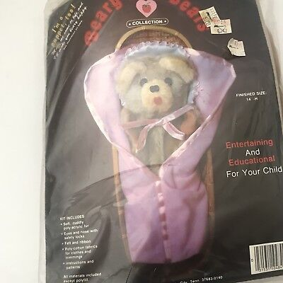Vintage Beary Hill Bear Snuggle Beary Craft Kit New in package  FREE Shipping