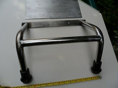 stainless steel boat foot rest step  barbers foot rest bar foot rest barbers