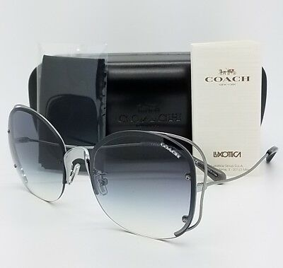 New Coach sunglasses HC7081 900479 58 Silver Grey Blue Gradient butterfly 7081