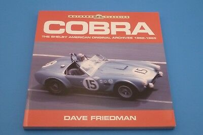 RARE Cobra The Shelby American Original Archives 1962-1965 by Dave Friedman USED