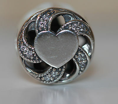 788f91c28 AUTHENTIC NEW PANDORA 791976cz FALL 2016 RIBBON HEART CHARM S925 ALE GIFT  BOX