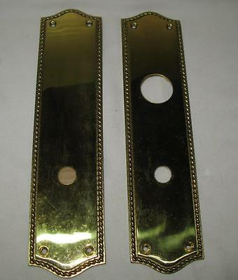 Vintage Front and Back Brass Door Plate Set