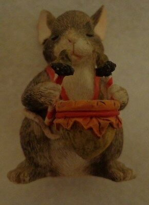 Charming Tails - Drummer Mouse Figurine