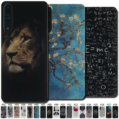 For Huawei P20 Pro Fashion Skin TPU Gel Rubber Cover Case Cute Painted Soft Back