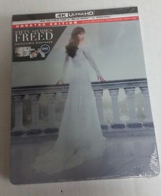 Fifty Shades Freed 4K Ultra HD HDR Blu-Ray Steelbook NEW