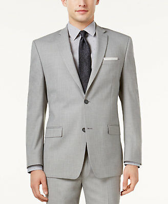 $301 Andrew Marc New York Mens Gray Fit Suit Solid Blazer Jacket Sport Coat 42 R