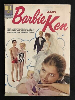Barbie and Ken Comic Book Issue #1 (1962 Series) Dell Comics Very Good