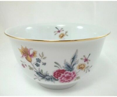Avon American Heirloom Floral & Dragonfly Bowl Independence Day 1981