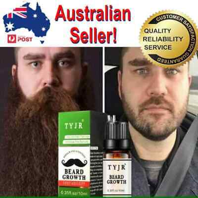 Beard Growth Oil TYJR for Thicker Soft Healthy Hair Moustache Sideburn